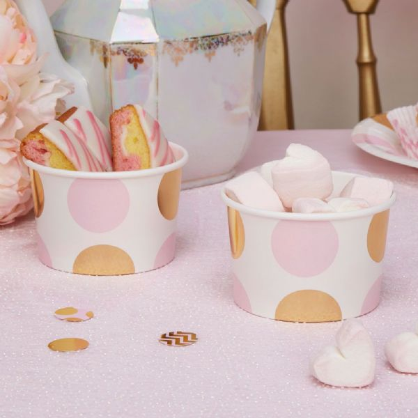 Pattern Works Pink Dots Treat Tubs (8)